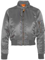 Balenciaga Scarf Satin Bomber Jacket - Gray
