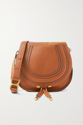 Chloé Marcie Medium Textured-leather Shoulder Bag - Tan