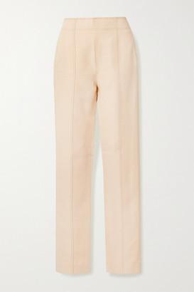 Acne Studios Whipstitched Crepe Straight-leg Pants - Cream
