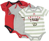 Majestic Babies' Arizona Diamondbacks 3-Piece Bodysuit Set