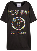 Moschino Embellished Jersey Mini Dress - Black