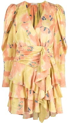 Ulla Johnson Tiered Floral-Print Mini Dress