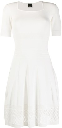 Pinko Knitted Square Neck Dress