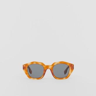 Burberry Geometric Frame Sunglasses