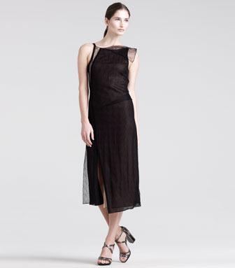 Reed Krakoff Modern Draped Lace Dress