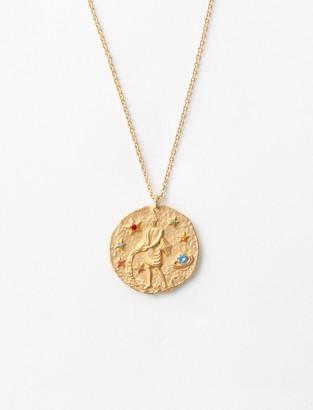 Maje Aquarius zodiac sign necklace