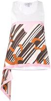 Carven geometric print tank - women - Cotton/Silk - L