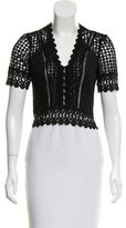 Rebecca Taylor Crocheted Short Sleeve Top