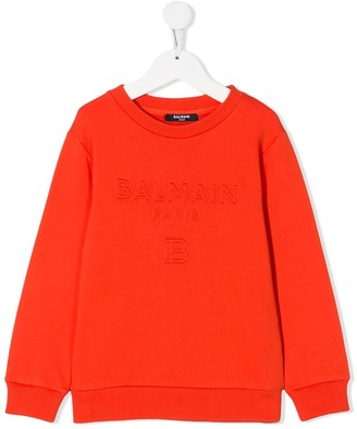 Balmain Kids Branded Crew Neck Sweatshirt