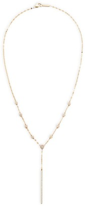 Lana Flawless 14K Yellow Gold & Diamond Disc Chime Lariat Necklace