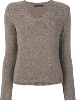 Incentive! Cashmere knitted V-neck top