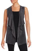 Calvin Klein Faux Suede Cascading Vest
