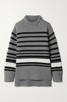 By Malene Birger Hedera Oversized Striped Wool-blend Turtleneck Sweater
