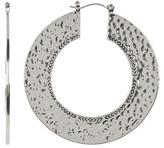 House Of Harlow Textured Disc Hoop Earrings