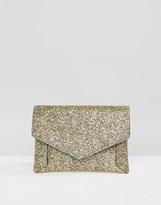 Asos Glitter Envelope Clutch Bag