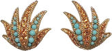 One Kings Lane Vintage Boucher Faux-Turquoise & Topaz Earrings
