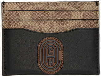 Coach 1941 Beige and Brown Signature Card Holder