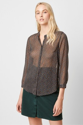 French Connection Graziana Crinkle Ditsy Print Blouse