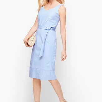 Talbots Gingham Sheath Dress
