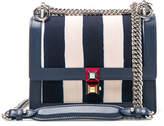 Fendi Striped Small Kan l Shoulder Bag