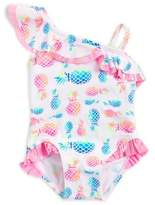 Flapdoodles Baby Girl's Ruffle Pineapple-Print One-Piece Swimsuit