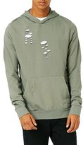 Topman Men's Distressed Oversize Hoodie