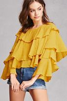 Forever 21 FOREVER 21+ Tiered Ruffle Blouse