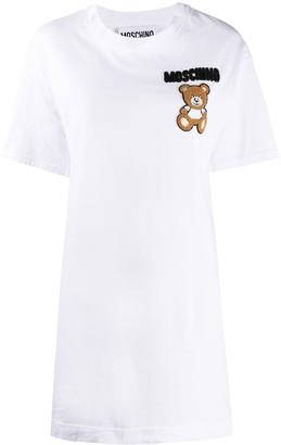 Moschino Teddy Bear beaded T-shirt dress