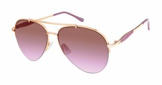 Nanette Lepore Nanette by Women's NN302 UV Protective Aviator Sunglasses