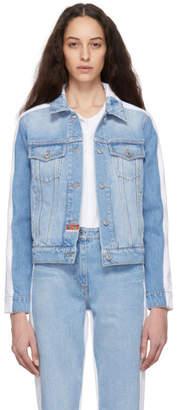 Kenzo Blue and White Denim Jacket