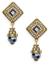 Heidi Daus Fabulous Foulard Swarovski Crystal Earrings/Goldtone