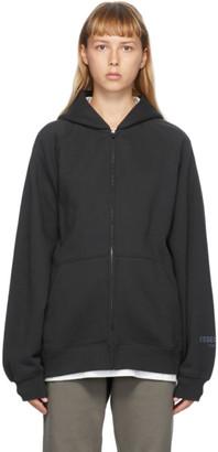 Essentials Black Full Zip Raglan Hoodie
