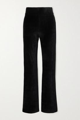 CALÉ Angelique Stretch-velour Flared Pants - Black