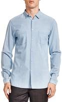 The Kooples Acqua Indigo Pocket Slim Fit Button-Down Shirt