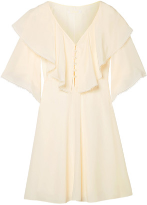 Chloé Ruffled Silk Crepe De Chine Mini Dress