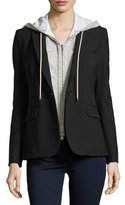 Veronica Beard Classic Crepe Jacket, Black