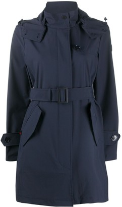 Woolrich Belted Waist Hooded Coat