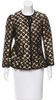 RED Valentino Floral Patterned Ruffle-Trim Jacket