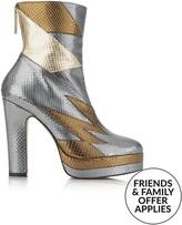 Terry De Havilland Aria Heeled Boots-Silver