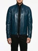 Calvin Klein Platinum Leather Jacket