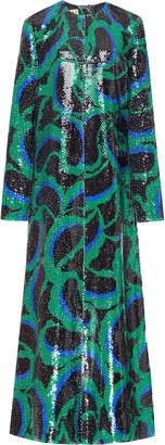 Marni Printed Sequin Maxi Dress