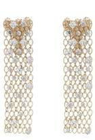 Lanvin Crystal-embellished chain clip-on earrings