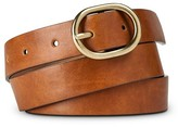 Merona Women's Belt With Gold Buckle Brown