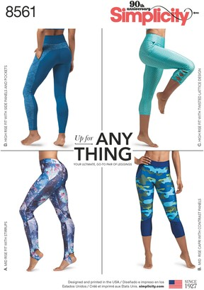 Simplicity Women's Leggings Sewing Pattern, 8561