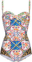 Dolce & Gabbana maiolica leopard print swimsuit