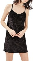 Topshop Women's Crushed Velvet Slipdress
