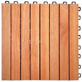 "Symple Stuff Eucalyptus 12"" x 12"" Interlocking Deck Tile"
