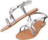 Crazy 8 Silver Braid Sandal - Toddler & Girls