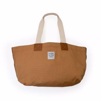 Risdon & Risdon Trade Brown Canvas and Leather Bag