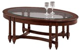 Progressive Canton Heights Oval Coffee Table - Dark Berry Furniture